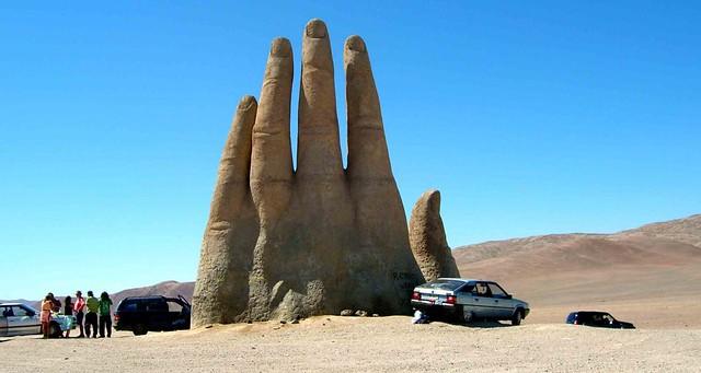 La Mano del Desierto, Mario Irarrázabal, desierto de Atacama