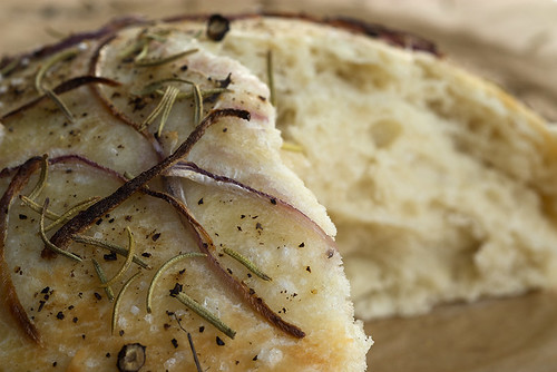 Focaccia with Onion and Rosemary | by bakeorbreak