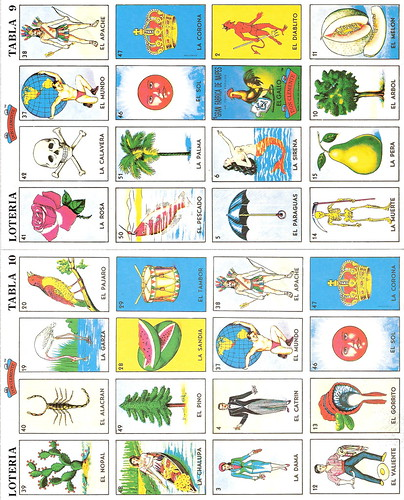 Unusual image in free printable loteria cards