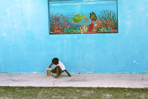 School Boy Infront of Aquarium Mural, Akumal, Mexico | by Lisa Bettany {Mostly Lisa}