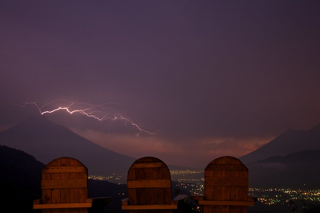 Lightning above Antigua, Guatemala