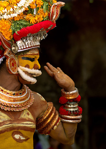 Muthappan Theyyam disguised as Lord Vishnu - India | by Eric Lafforgue