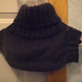 Blue mohair and alpakka neckwarmer