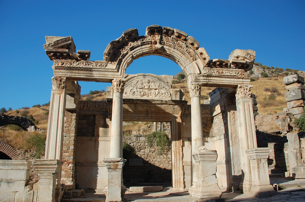 Temple of Hadrian, Efes, Turkey