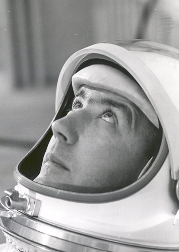 Astronaut James A. McDivitt Suited in Preparation for Training Tests | by Review of U.S. Human Space Flight Plans Committee
