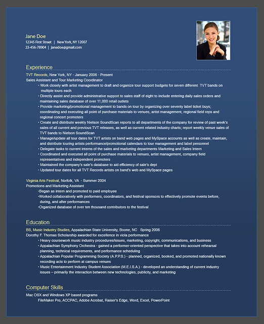 resume bear flickr - Corporate Resume Template