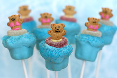 Pool Party Cupcake Pops | by Bakerella