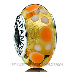 2011 summer pandora beads Yellow Bubbles PZB266 by Beads sale on Etsy