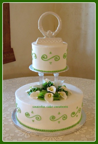 Belles of Ireland Wedding Cake | by Graceful Cake Creations