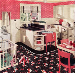 1936 Pink Polka Dot Kitchen | by American Vintage Home