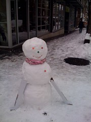 snowman i helped build on pike st | by xaotica
