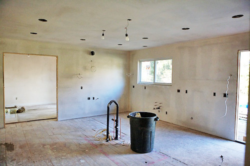 The drywall is up | by Elise Bauer