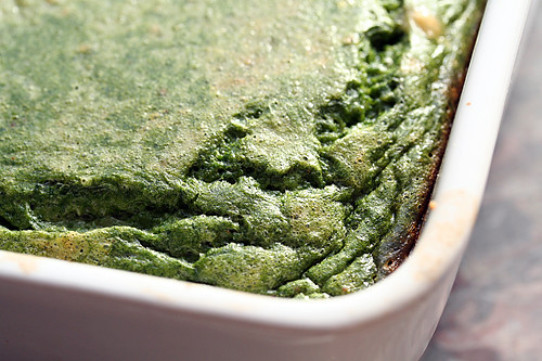 spinach cake | by David Lebovitz