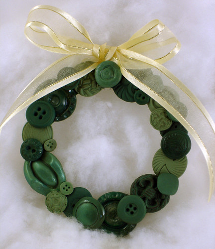 Large Polymer Clay Button Wreath | by CraftyGoat