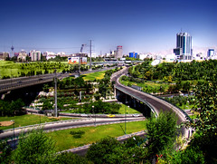 The View Of Tehran - Greens Vs. Blue Sky by Mehrad.HM