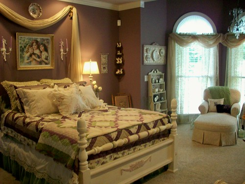 purple master bedroom | by cottageqt