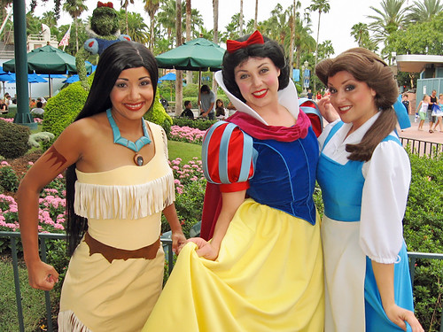 Pocahontas, Snow White and Belle | by meeko_