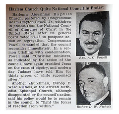 Harlem's Abyssinian Baptist Church Quits National Council of Churches in Protest - Jet Magazine April 10, 1952 | by vieilles_annonces