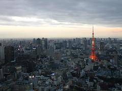 Tokyo Tower at dusk by Samm Bennett