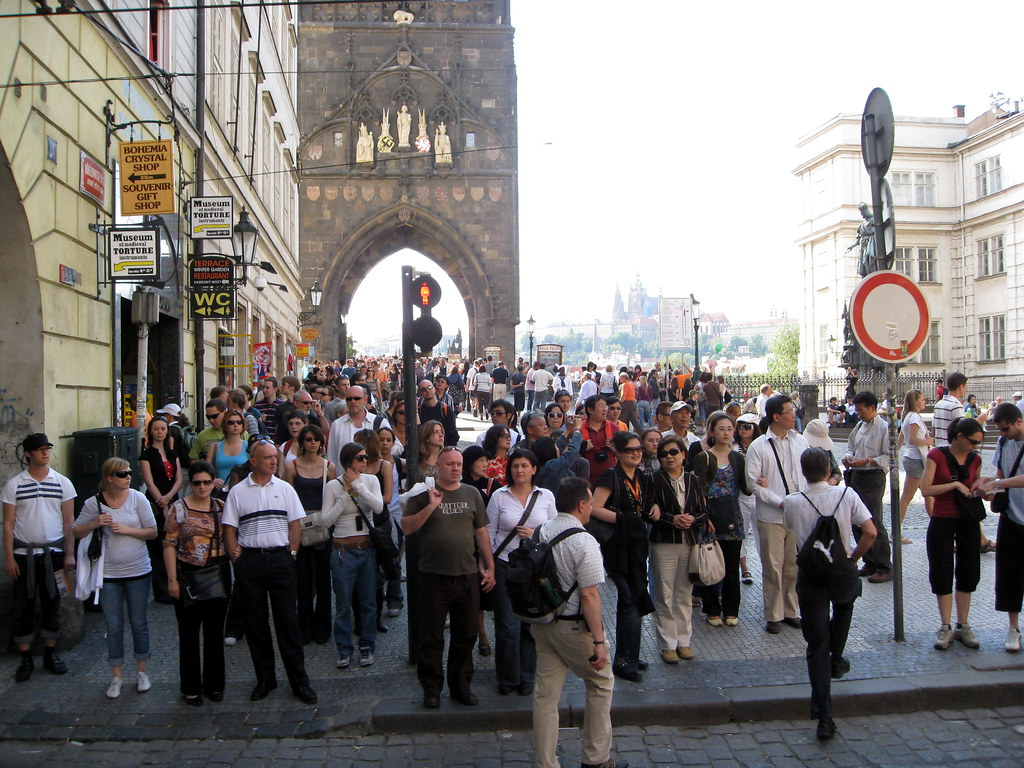 Busy Charles Bridge