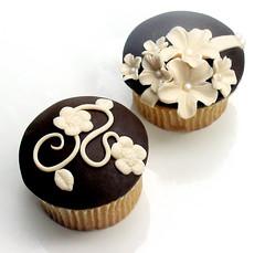 Brown and Blonde Cupcakes by Sugarbloom Bev