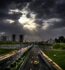 The View Of Tehran - Rays by Mehrad.HM