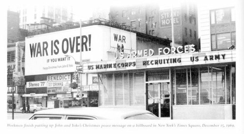 The billboard was right across from the big Times Square US Armed Forces Recruiting station.  You can see it from this angle https://c4.staticflickr.com/4/3182/2892804003_746b0b8c92.jpg