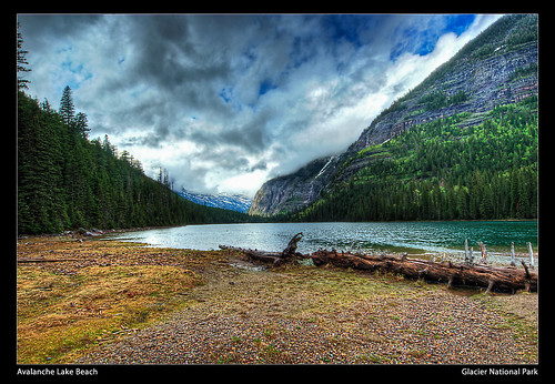 Avalanche Lake Beach - Glacier National Park | by nip2655