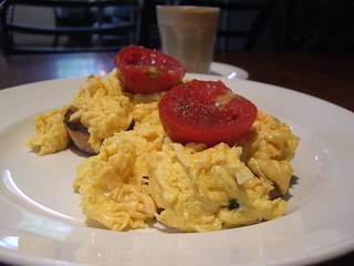 Parmesan Scrambled Eggs with Basil and Roasted Tomato - Mr Tulk | by avlxyz