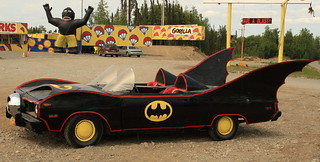 The Batmobile at Gorilla Fireworks - an Alaskan icon in Houston | by Alaskan Dude