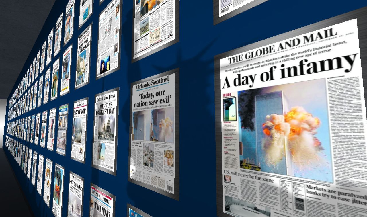 Headlines at the Newseum. Photo: Tim Kelly, CC.