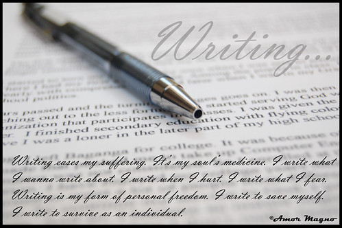 writing... | by dabawenya (Amor Magno)