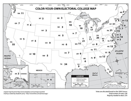 Color-Your-Own Electoral College Map | by egp