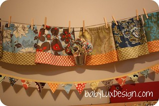 fabric flower display | by BabyLuxDesigns