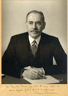 Dean Acheson | by Wofford Archives