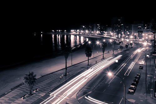 Montevideo - Rambla by night | by Berenice Decados