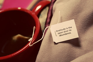 Gratitude reminder from my Yogi tea | by TheOrganicSister