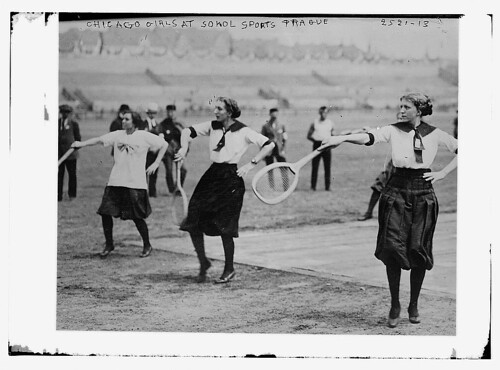 Chicago girls at Sokol Sports, Prague, Austria  (LOC) | by The Library of Congress