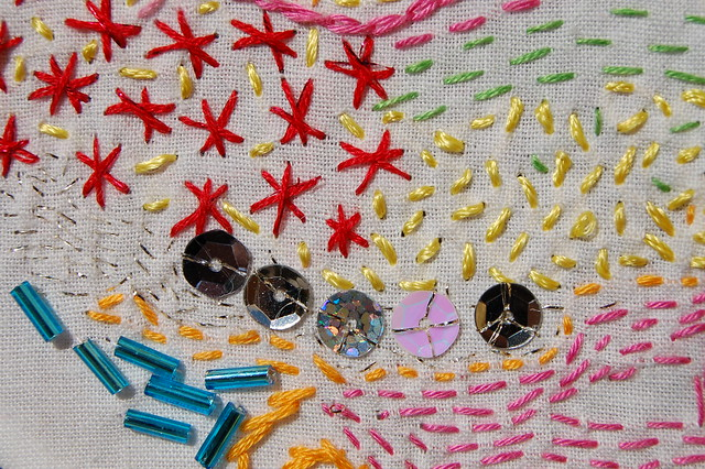 Freeform Embroidery that Glitters