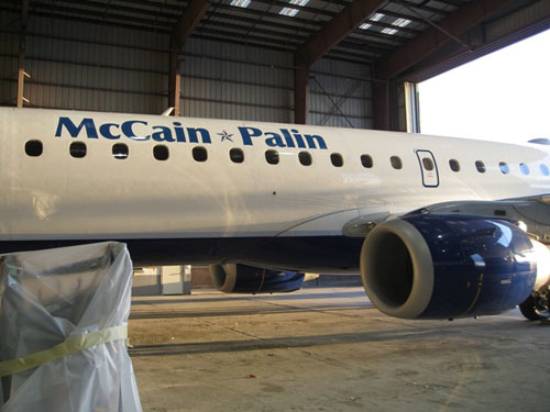The McCain-Palin VP charter jet | by jetblueflickr