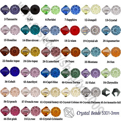 Swarovski crystal beads 5301 bicone-3mm-wholesale by Beads sale on Etsy