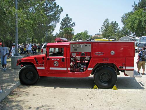 Lafd Hummer Brush Patrol On Display At The American