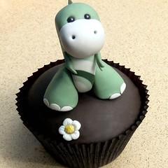 Dino Baby Cupcake by Sugarbloom Bev