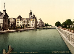 Rhine-Rhone Canal and Post Hotel, Mulhouse, Alsace, ca. 1895