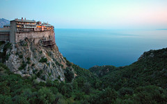 Mt. Athos, Greece - Holy Monastery of Simonos Petra (Simonopetra) by ConstantineD