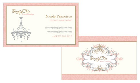 Simply Chic Event Planning Business Cards Flickr Photo Sharing