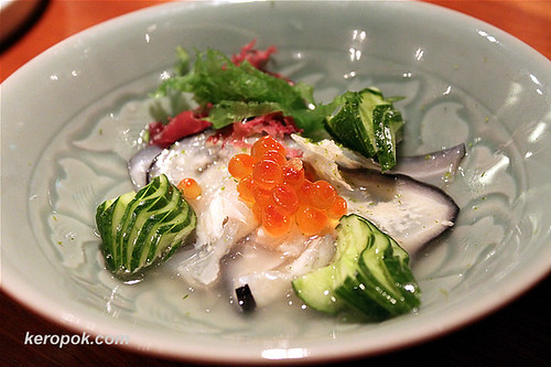 Hizunamasu - salmon white bone in sweet vinegar dressing | by keropokman