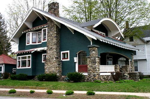 Beautiful 1904 bungalow saratoga springs flickr photo for Windows for craftsman style homes