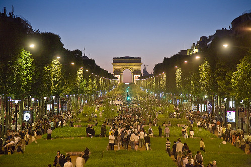 Nature capital Paris Champs Elysees at Night | by Feo David