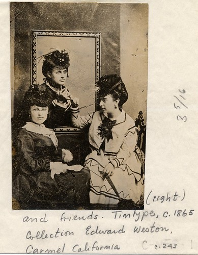studio portrait of Alice Jeanette Brett (Edward Weston's mother) and two undentified women | by George Eastman House